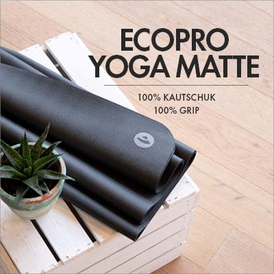 EcoPro Yogamatte von bodhi | 100% Kautschuk und 100% Grip für deine Yoga Praxis