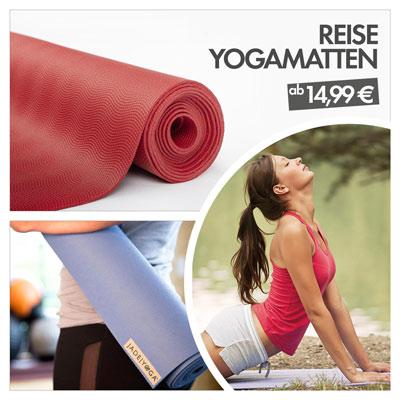 Reise udn Urlaubszeit mit Reise-Yogamatten im Angebot bei bodynova | Bodhi yoga, jade yoga