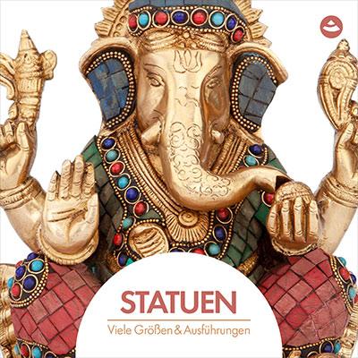 Statuen im bodynova Online Shop: Indische Gottheiten und Om-Ständer