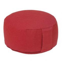 Meditation cushion RONDO BASIC burgundy | spelt hull