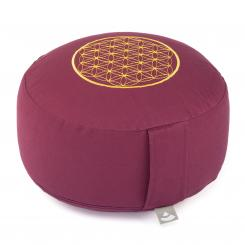 Meditation cushion RONDO ECO | Embroidery: Flower of Life