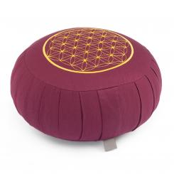 Meditation cushion ZAFU ECO spelt hull  - Flower of Life