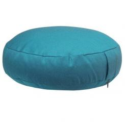 Meditation cushion RONDO CLASSIC extra flat turquoise (cotton twill)