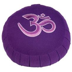 Meditation cushion ZAFU BASIC - Om purple | spelt hull