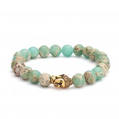 Mala bracelet, serpentine pastel-colored (fashion jewelry)