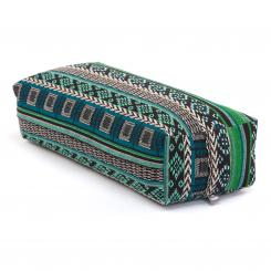 Yoga BOLSTER Salamba | ETHNO Collection | patterned jacquard weave black-white-green