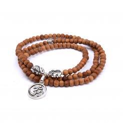 Mala Wickel-Armband aus Holz mit Sandelholz-Duft, Modeschmuck