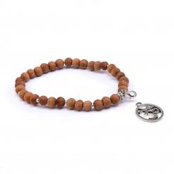Mala bracelet short, sandalwood scent with OM