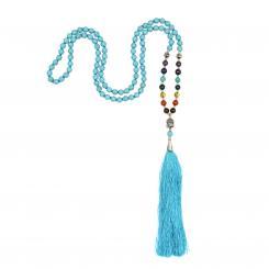 Mala 7 Chakren mit Türkis, 108 Perlen