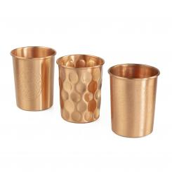 Copper cups, set of 2, 250 ml, copper
