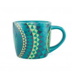 bodhi YogiMug Ceramic Mug Blue Mandala