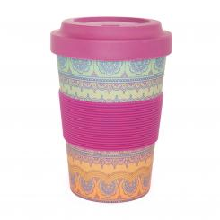 YogiCup 2 Go, bamboo cup, Indian Ornaments
