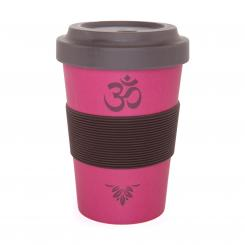 YogiCup 2 Go, bamboo cup, OM Berry