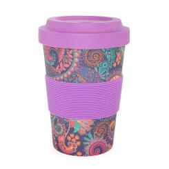YogiCup 2 Go, bamboo cup, Paisley purple