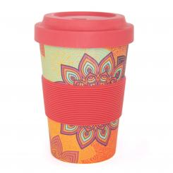 YogiCup 2 Go, bamboo cup, Sunflower orange