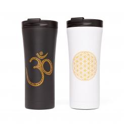 Mug isotherme inox medium, 480 ml, avec motif de yoga