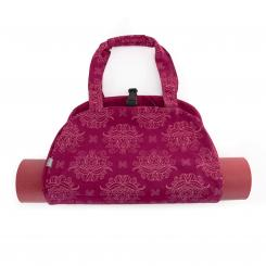 "Maharaja Collection : Sac de yoga NAMASTÉ - ""Lotus"", berry"