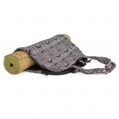 "Yoga Bag, NAMASTÉ - ""Bandhani"", black/white 