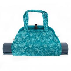 Sac de yoga NAMASTÉ - Paisley, pétrole | Maharaja Collection