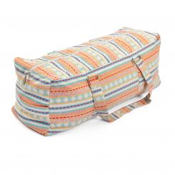 Yoga Kit Bag | ETHNO Collection | apricot-hellblau gemustert