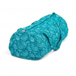 Maharaja Collection: Gemusterte Hot Yoga Bag Paisley, petrol