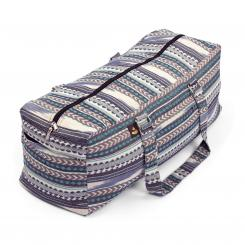Yoga Kit Bag | ETHNO Collection | black-white-blue pattern