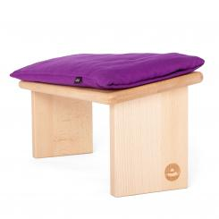 Meditation bench LHASA oiled | Velveteen purple