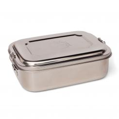 bodhi Stainless Steel Lunchbox with Namaste engraving, in 2 Größen large, 19 x 14,5 x 6,7 cm