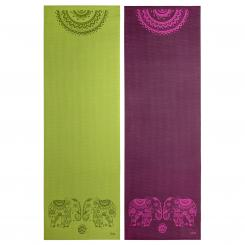 Tapis de yoga design ELEPHANT/MANDALA, The Leela Collection