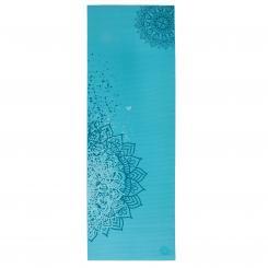 Tapis de yoga design MANTRA BICOLORE, The Leela Collection Bleu Curacao