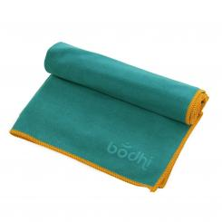 Yoga towel NO SWEAT FUN Towel small petrol/orange stitching (new)