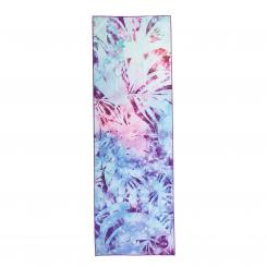 Serviette de yoga GRIP² - Arctic Leaves, batik-bleu