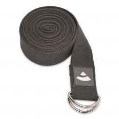 Yogagurt ASANA BELT, mit Metallverschluss (D-Ring) anthrazit