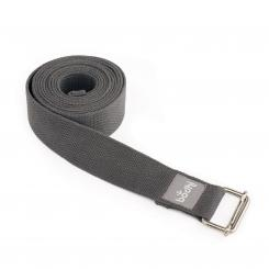 Yoga strap ASANA BELT with metal sliding buckle New: anthracite