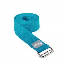 Yoga strap ASANA BELT with metal sliding buckle petrol (NEW COLOR)