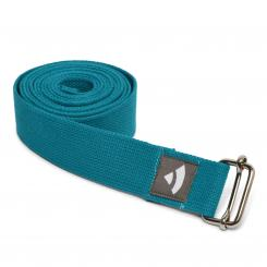 Yoga strap ASANA BELT with metal sliding buckle petrol