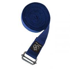 Yoga strap ASANA BELT PRO with metal buckle dark blue