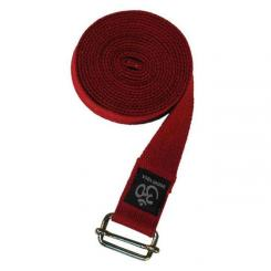 Yogagurt ASANA BELT PRO, 3m x 38mm, metall weinrot