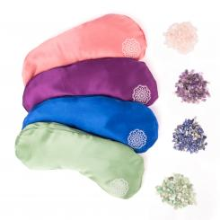 Eye pillow INNER JEWELS, silk with semi-precious stone filling
