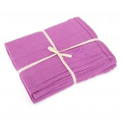 Yoga blanket SHAVASANA, cotton lilac