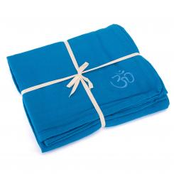 Yoga blanket SHAVASANA, cotton sky blue