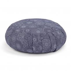 Maharaja Collection: ZAFU meditation cushion |  38 x 20 cm Mandala, dark blue