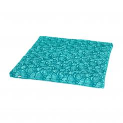 Maharaja Collection: Meditation Mat, ZABUTON, 80 x 80 cm Paisley, petrol