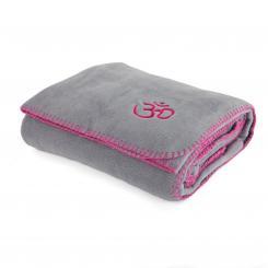 Yoga blanket ASANA grey/aubergine