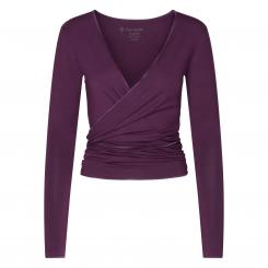 Yamadhi Yoga Wickeljacke, Modal, deep purple (Blackberry Wine)