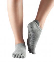 ToeSox Socken Low Rise Full Toe Heather Grey