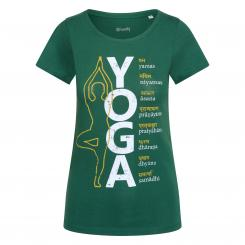 Bodhi Yoga Shirt DAMEN - 8 LIMBS, dark green