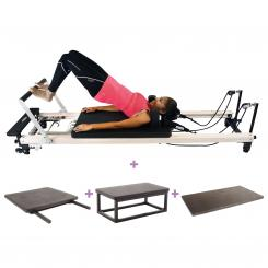 Align Pilates C2 Pro Reformer, Bundle - WOOD EFFECT