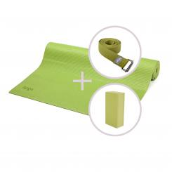Kit de yoga ASANA avec tapis de yoga, brique et sangle