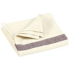 Cotton blanket with herrigbone pattern, ecru